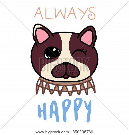Kawaii Doodle Dog Vector Photo Free Trial Bigstock
