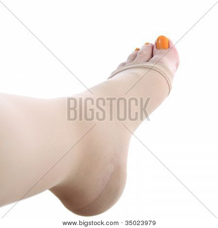 Foot Vith Compression Stocking