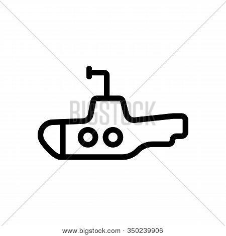 Periscope Submarine Icon Vector. Thin Line Sign. Isolated Contour Symbol Illustration