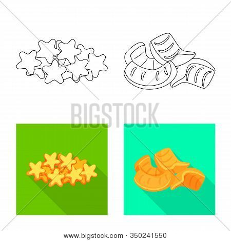 Vector Illustration Of Oktoberfest And Bar Icon. Set Of Oktoberfest And Cooking Stock Symbol For Web