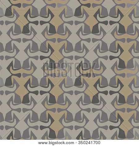 Abstract Geometric Tessellation Seamless Vector Pattern In Neutral Grey And Stone Colors. Unisex Sur