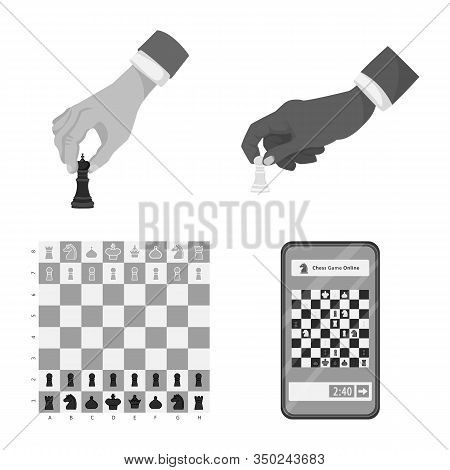 Isolated Object Of Tactical And Play Sign. Collection Of Tactical And Thin Stock Vector Illustration