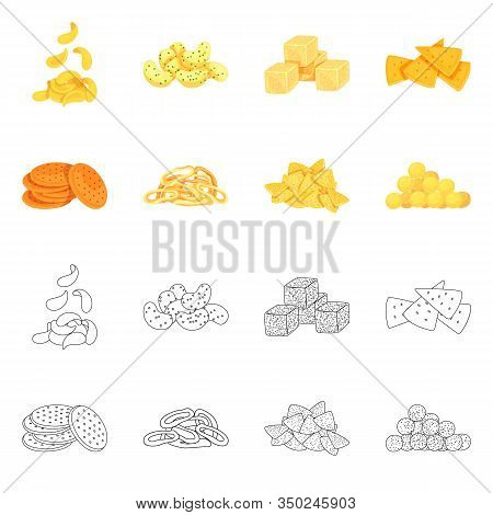 Isolated Object Of Oktoberfest And Bar Logo. Set Of Oktoberfest And Cooking Stock Symbol For Web.