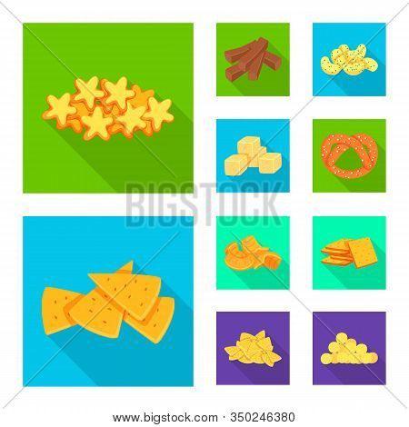 Vector Illustration Of Oktoberfest And Bar Sign. Set Of Oktoberfest And Cooking Stock Symbol For Web