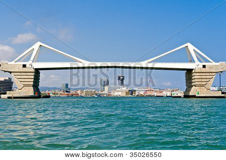 Europa Bridge At Port Of Barcelona