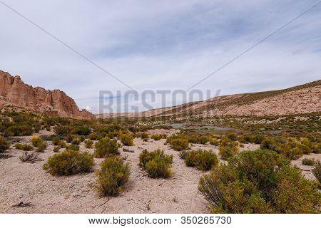 Canyon Del Rio Anaconda In The Bolivian Plateau. Landscape Of The Bolivian Highlands. Desert Landsca