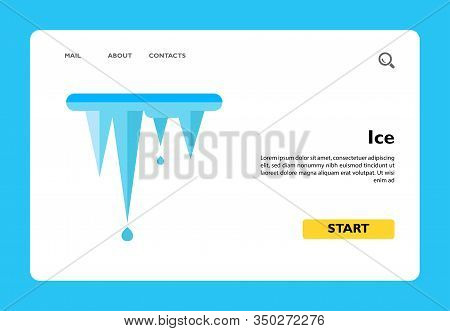 Multicolored Vector Icon Of Melting Icicles Representing Ice Concept