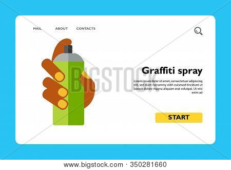 Icon Of Graffiti Spray. Hooligan, Painting, Aerosol. Ghetto Concept. Can Be Used For Topics Like Van