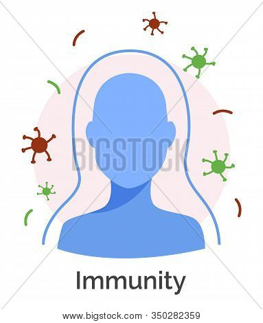 Immune System Of Human Body. Isolated Icon Of Protective Barriers Helping To Get Rid Of Infections A