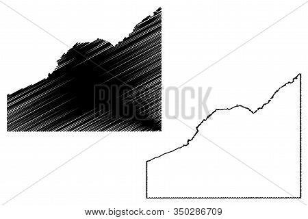 Delta County, Colorado (u.s. County, United States Of America,usa, U.s., Us) Map Vector Illustration