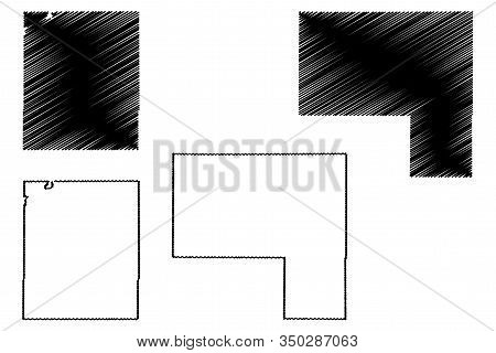 Elbert And Bent County, Colorado (u.s. County, United States Of America,usa, U.s., Us) Map Vector Il