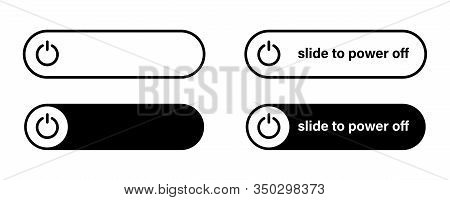 Switch Toggle Button On Off  Vector Isolated Icon.  Power Switch Icon. Round Button. Button With Swi