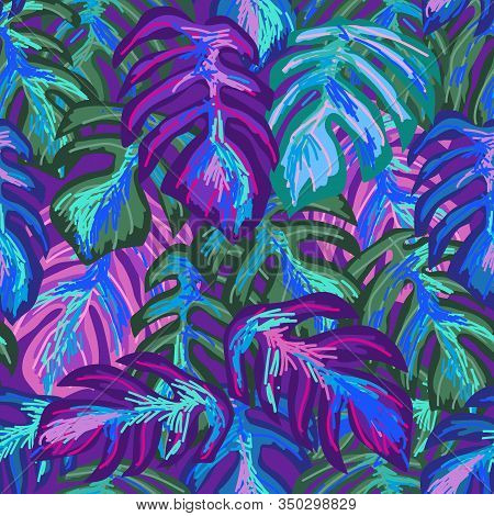 Aloha Textile Collection. Template For Scarves, Dresses, Swimwears.