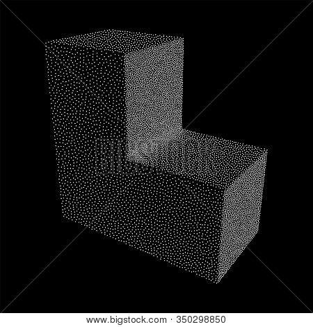 Dotwork Halftone Corner Box. Engraving Vector Illustration. Transportation Concept