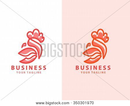 Line Drawing Of Rooster Chicken Animal Farm. Vector Hand Drawn Sketch Lineart Design.cute Rooster Li