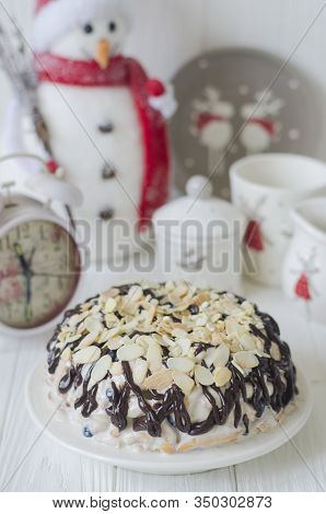 Cake Without Baking Cookies With Blackcurrant And Cream