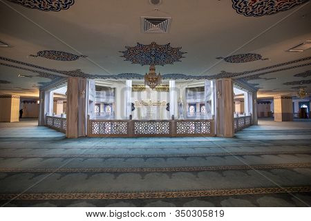 Inside Moscow Cathedral Mosque, Russia