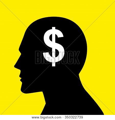 Mind Concept Graphic, Dollar Symbol Analogy For Money-oriented