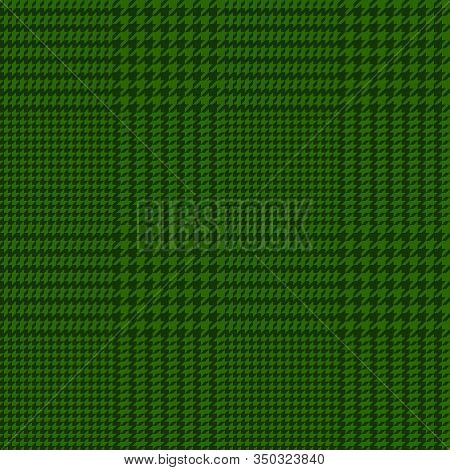 Vector Illustration Of Houndstooth Seamless Green Pattern