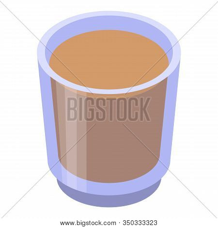 Whiskey Glass Icon. Isometric Of Whiskey Glass Vector Icon For Web Design Isolated On White Backgrou