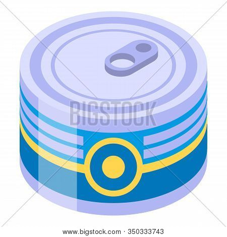 Tuna Tin Can Icon. Isometric Of Tuna Tin Can Vector Icon For Web Design Isolated On White Background