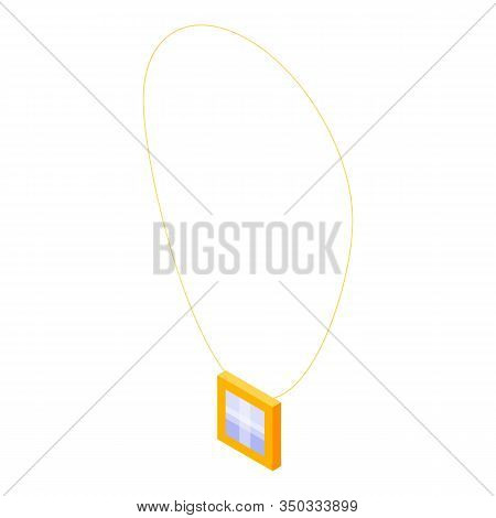 Jewelry Necklace Icon. Isometric Of Jewelry Necklace Vector Icon For Web Design Isolated On White Ba
