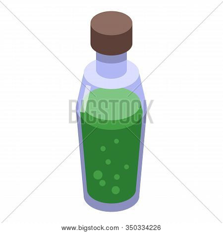Green Potion Icon. Isometric Of Green Potion Vector Icon For Web Design Isolated On White Background