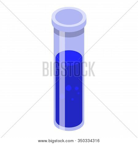 Potion Test Tube Icon. Isometric Of Potion Test Tube Vector Icon For Web Design Isolated On White Ba