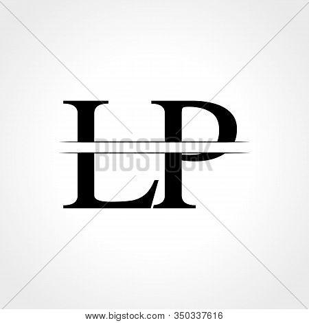 Initial Lp Letter Logo Design Vector Template. Abstract Black Letter Lp Logo Design