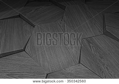 Dark Triangular Background. Creative Geometric Image In Origami Style With Gradient. Triangular Patt