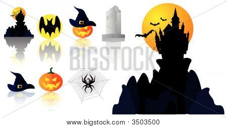 Vector Halloween Symbols