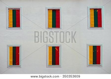 Decoration Of The Building On The Occasion Of Lithuanian Independence Day, February 16th, Celebratio