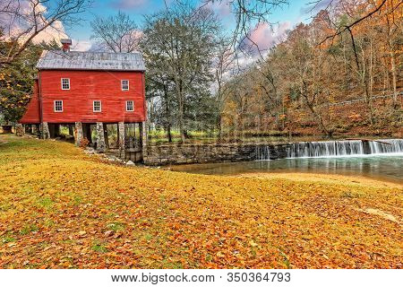 Grist Mill On The Alvin C. York Farm State Park In Pall Mall Tennessee.