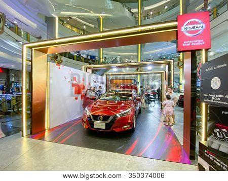 Bangkok Thailand - 10 Feb 2020: All New Nissan Almera Model 2020  Show On Display At The Central Ram