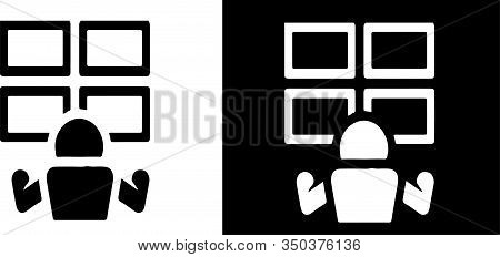 Survellance Room Icon Isolated On Background Secret, Secure, Security, Service