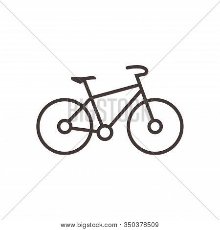 Bicycle Icon Vector Isolated On White Background. Vector Illustration. - Stock Vector. Bicycle Icon