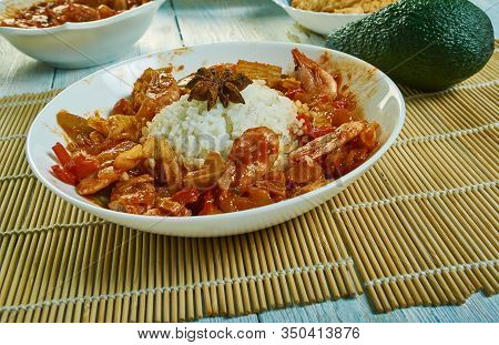 Etouffee  Dish Found In Both Cajun And Creole Cuisine Typically Served With Shellfish Over Rice