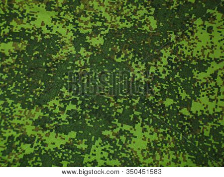 Forest Camouflage. Green Camouflage Pixel. Camouflage Background And Texture.
