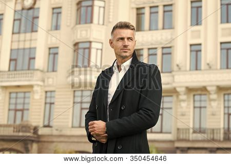 Businessman Concept. Facial Care And Ageing. Traits And Behaviors That Make Men More Appealing. Attr