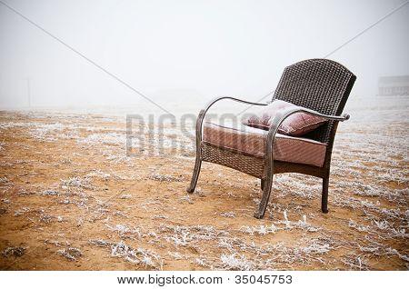 Snowy Vintage Chair