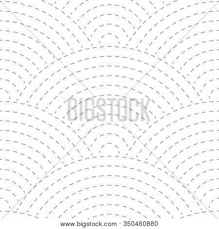 Seigaha Seamless Pattern. Elegant Print In Doodle Style. Simple Wavy Background. Japanese Motives.
