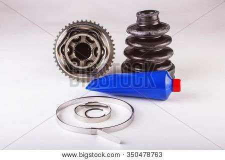 Spare Parts Cv Joints. Constant Velocity Joints. Auto Parts Wheel Of The Car.