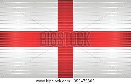 Shiny Grunge Flag Of The England - Illustration,  Three Dimensional Flag Of England