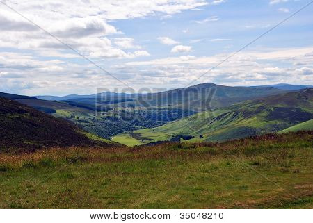 Green Valley in the Wicklow Hills Ireland