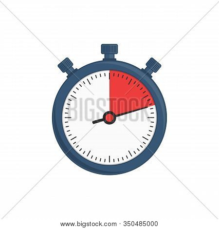 Stopwatch Vector Icon Isolated On White Background. Stop-watch Design Template. Sport Timer On Compe