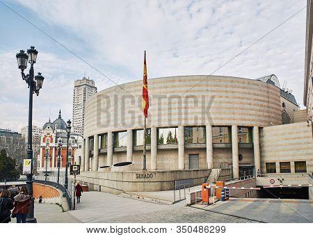 Spanish Senate Building. Madrid, Spain.