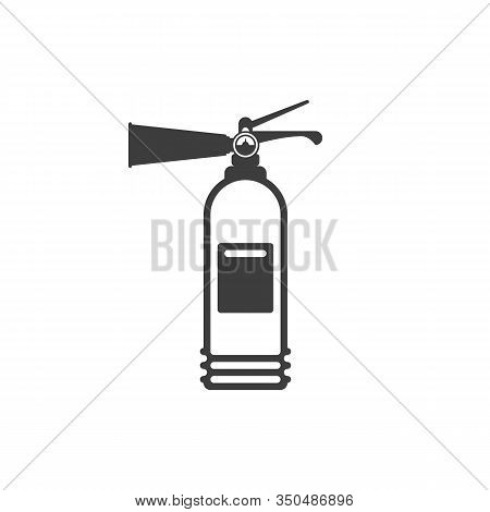 Fire Extinguisher Icon Isolated On White Background. Extinguisher Sign In Flat Style. Concept Of Fir