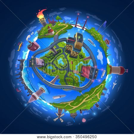Cartoon Earth Model Vector Photo Free Trial Bigstock
