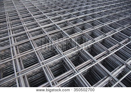 Steel Bar Iron Wire In Factory.steel Rebars For Reinforced Concrete  Construction Site.steel Reinfor