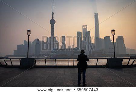 Shanghai, China - January 09 2020: Shanghai Waitan